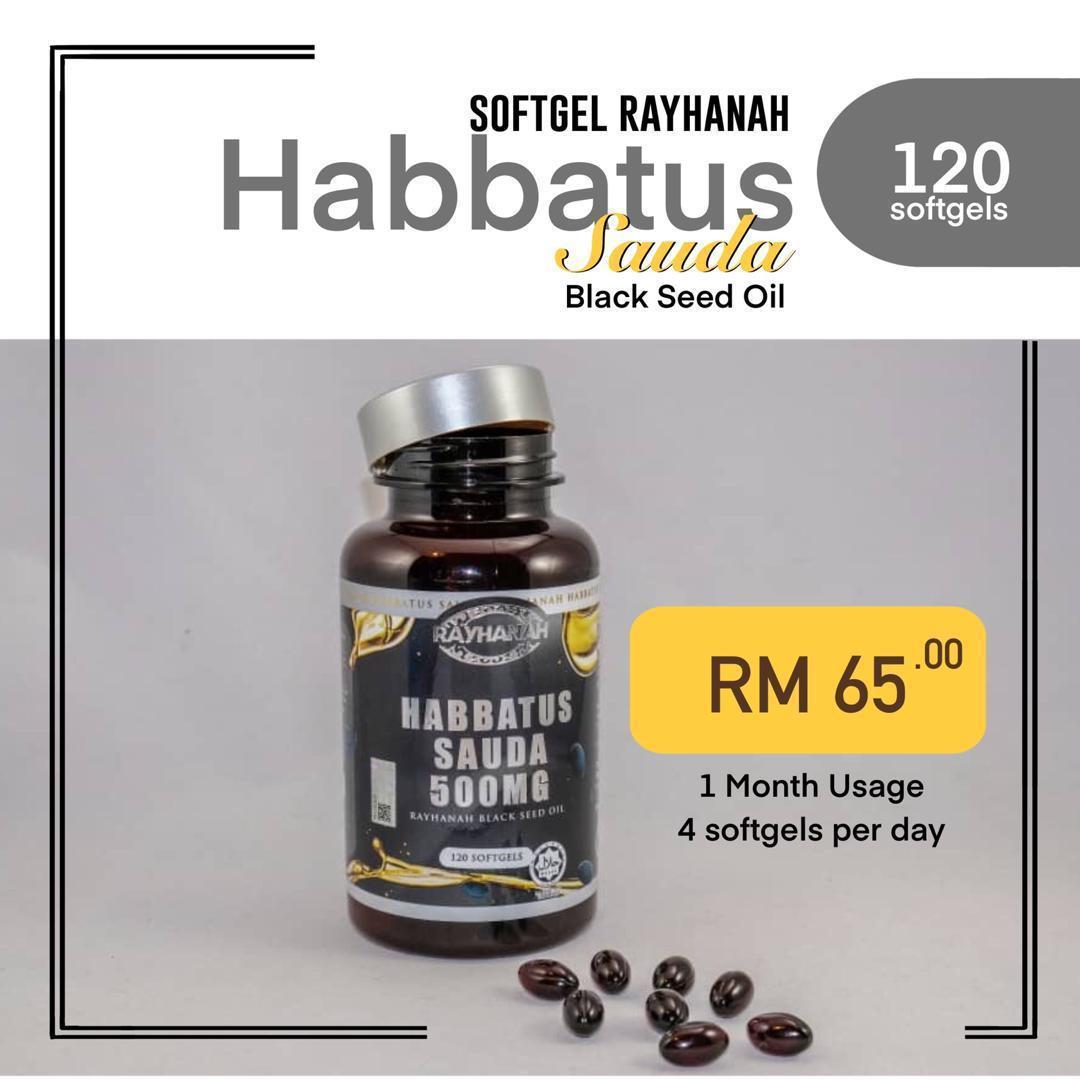 Rayhanah Habbatus Sauda 120 Softgels - RM65.00