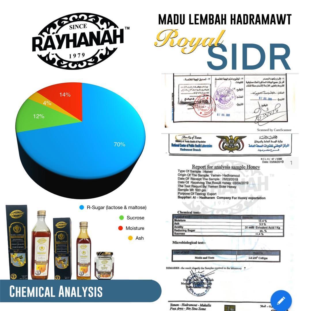 Rayhanah Madu Lebah Hadramawt Royal Sidr 500g  - RM290.00