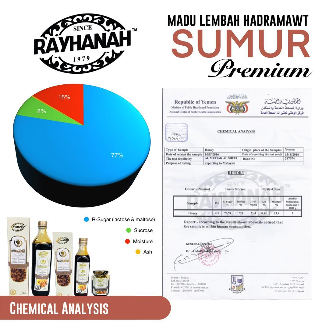 Rayhanah Madu Lebah Hadramawt Sumur Premium 500g  - RM170.00