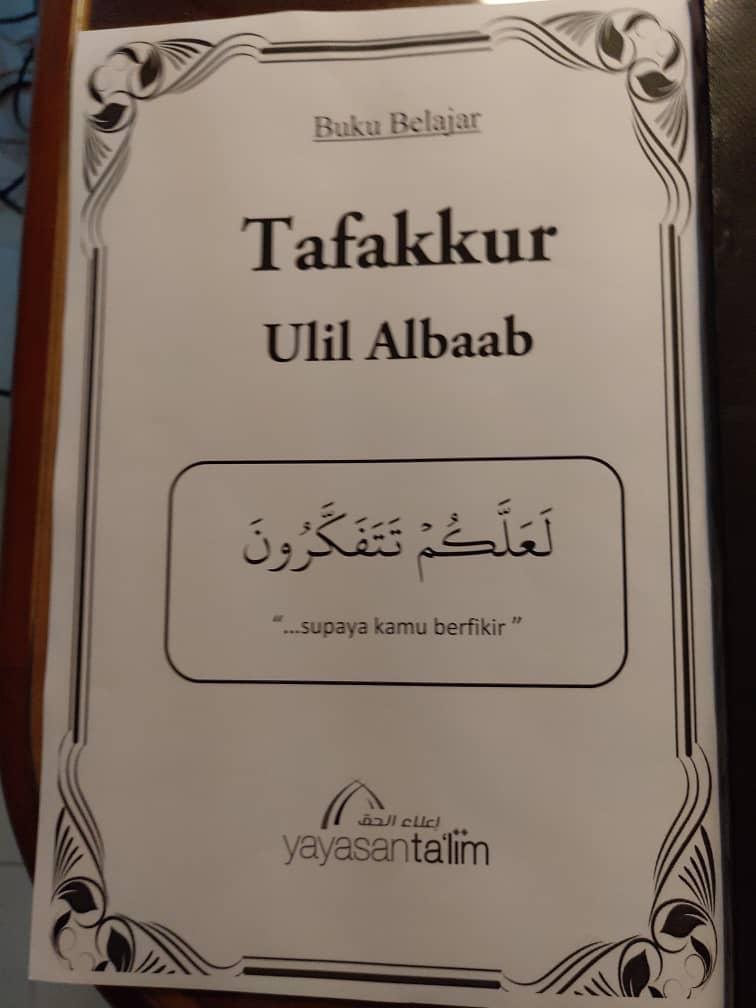 Buku Belajar Tafakkur Ulil Albab (hKelas Ustaz Kariman) - RM10.00